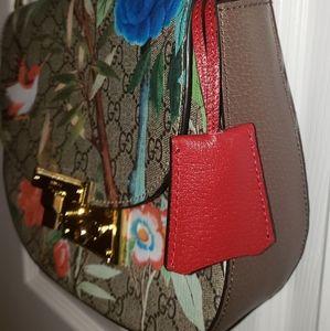 Genuine leather GG crossbody shoulder bag